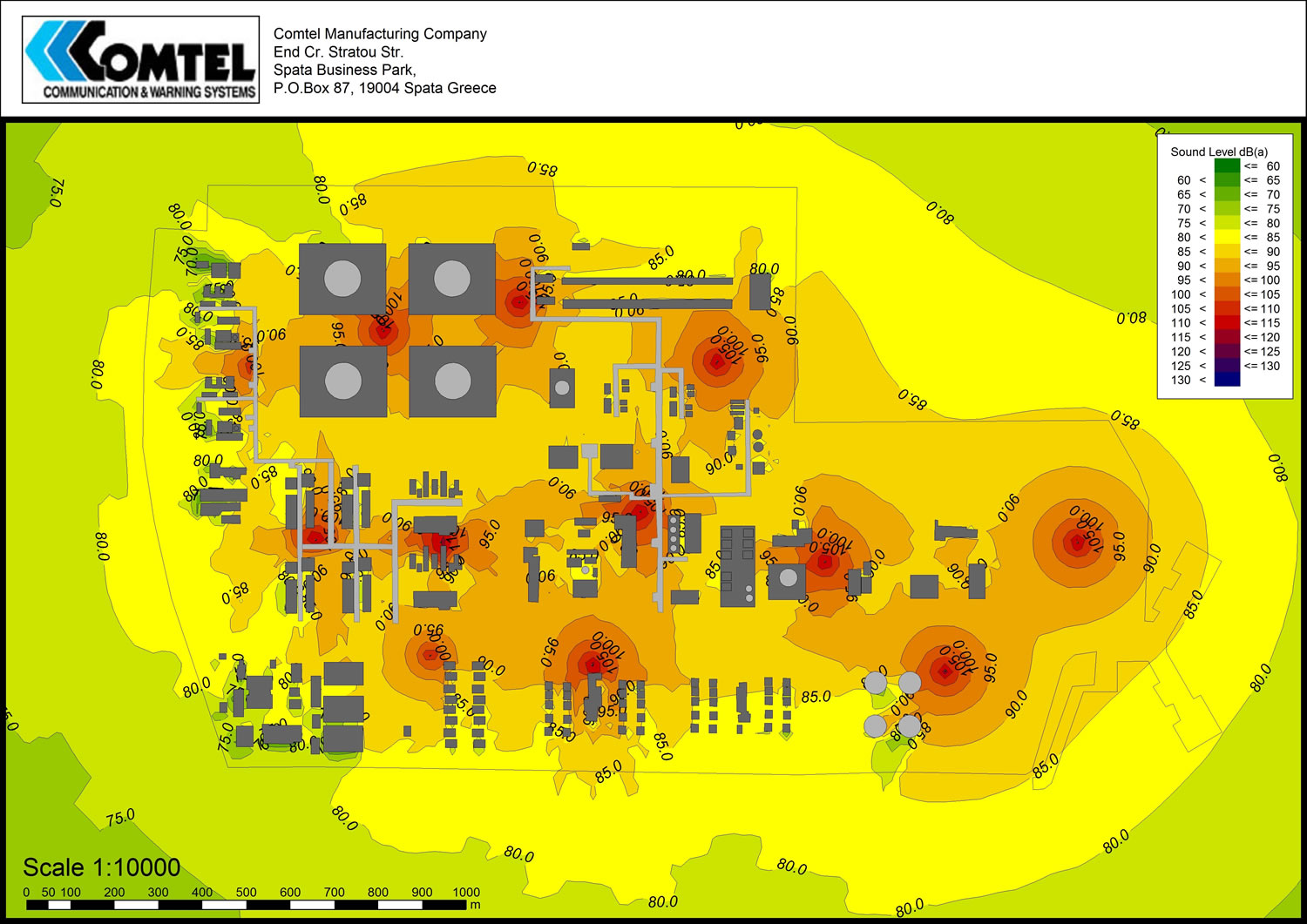 SoundPlan sound Simulation for Early Warning Systems 02